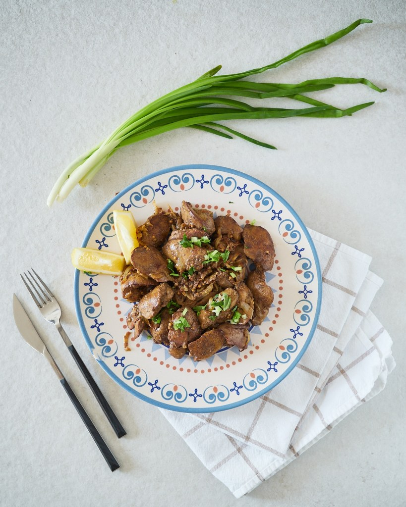 Pan Fried Chicken Liver