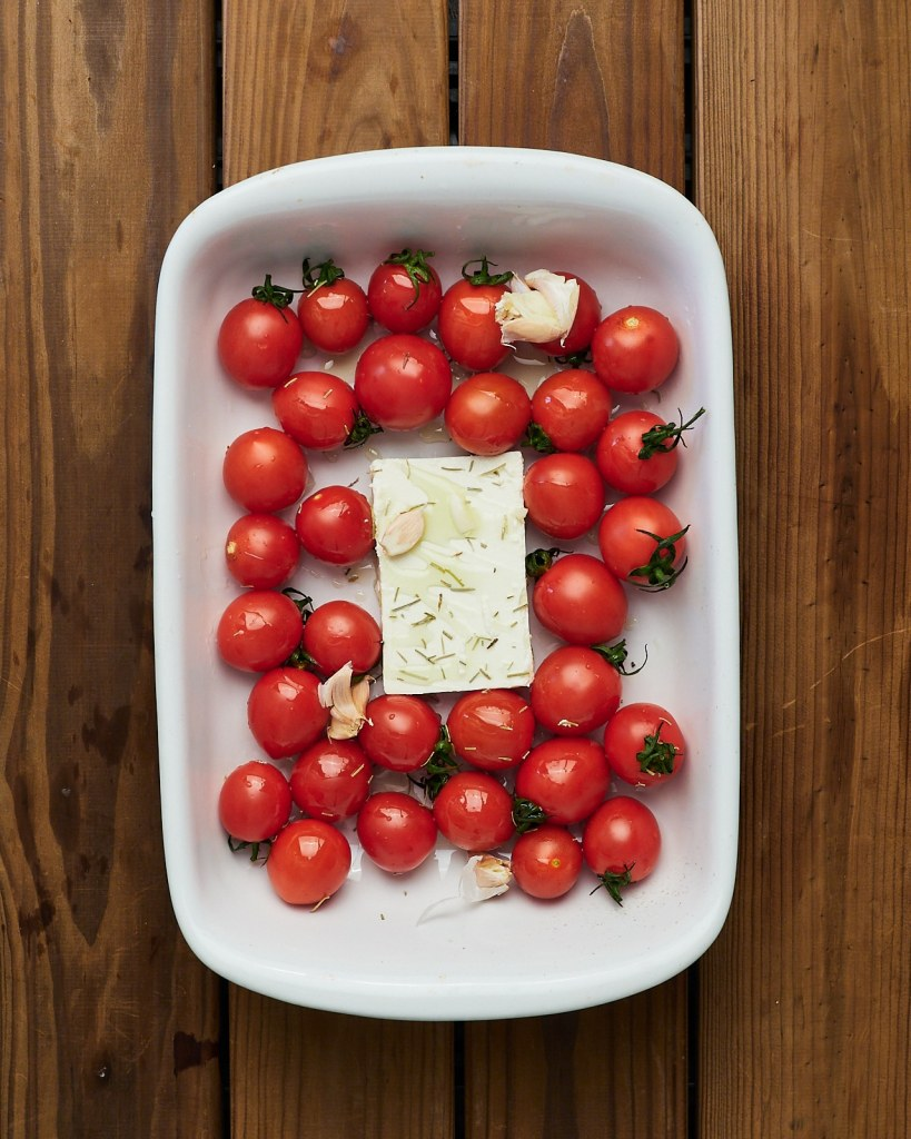Baked Feta Cheese With Tomatoes
