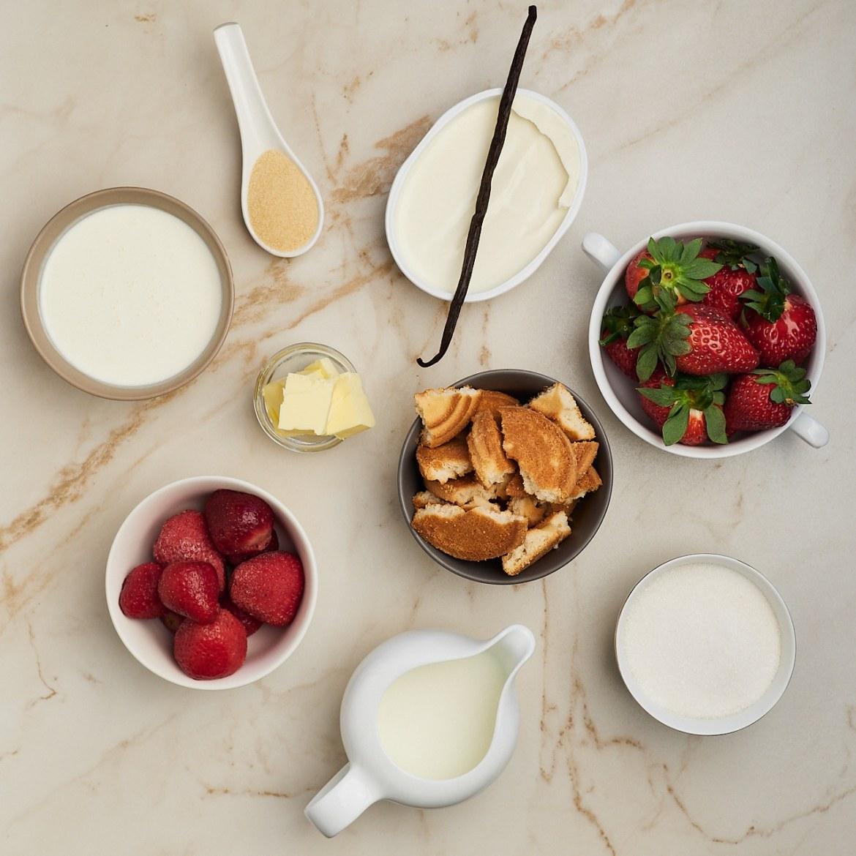 ingredients no-bake strawberry cheesecake