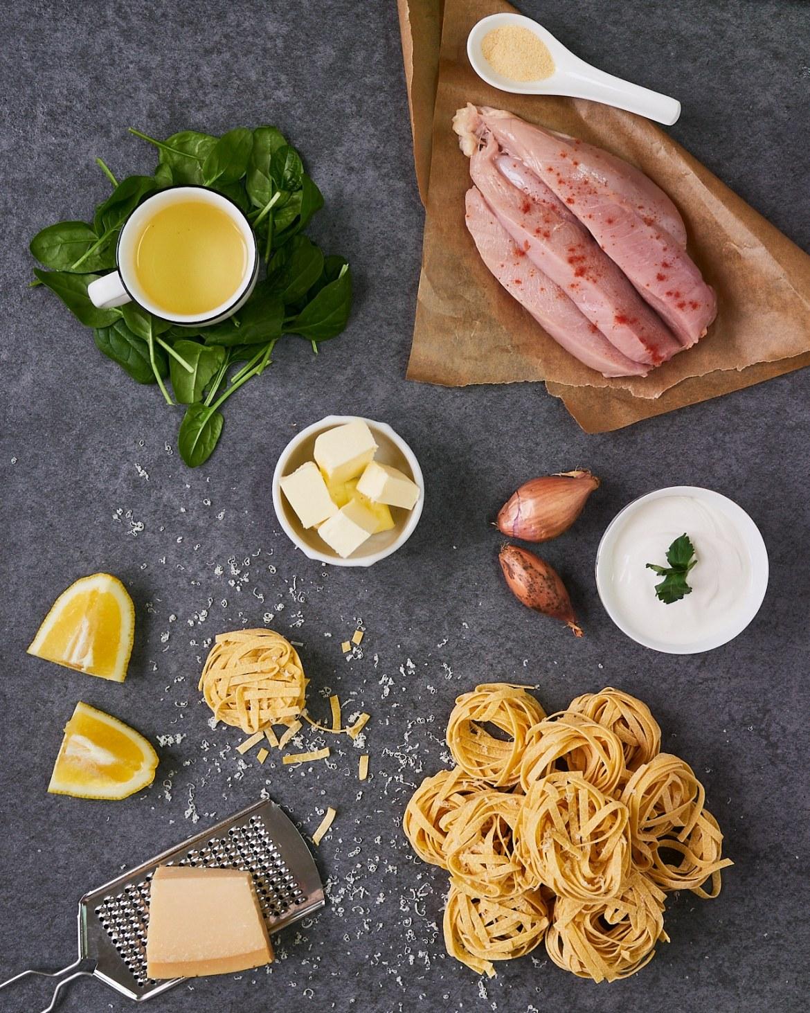 ingredients for lemon chicken pasta