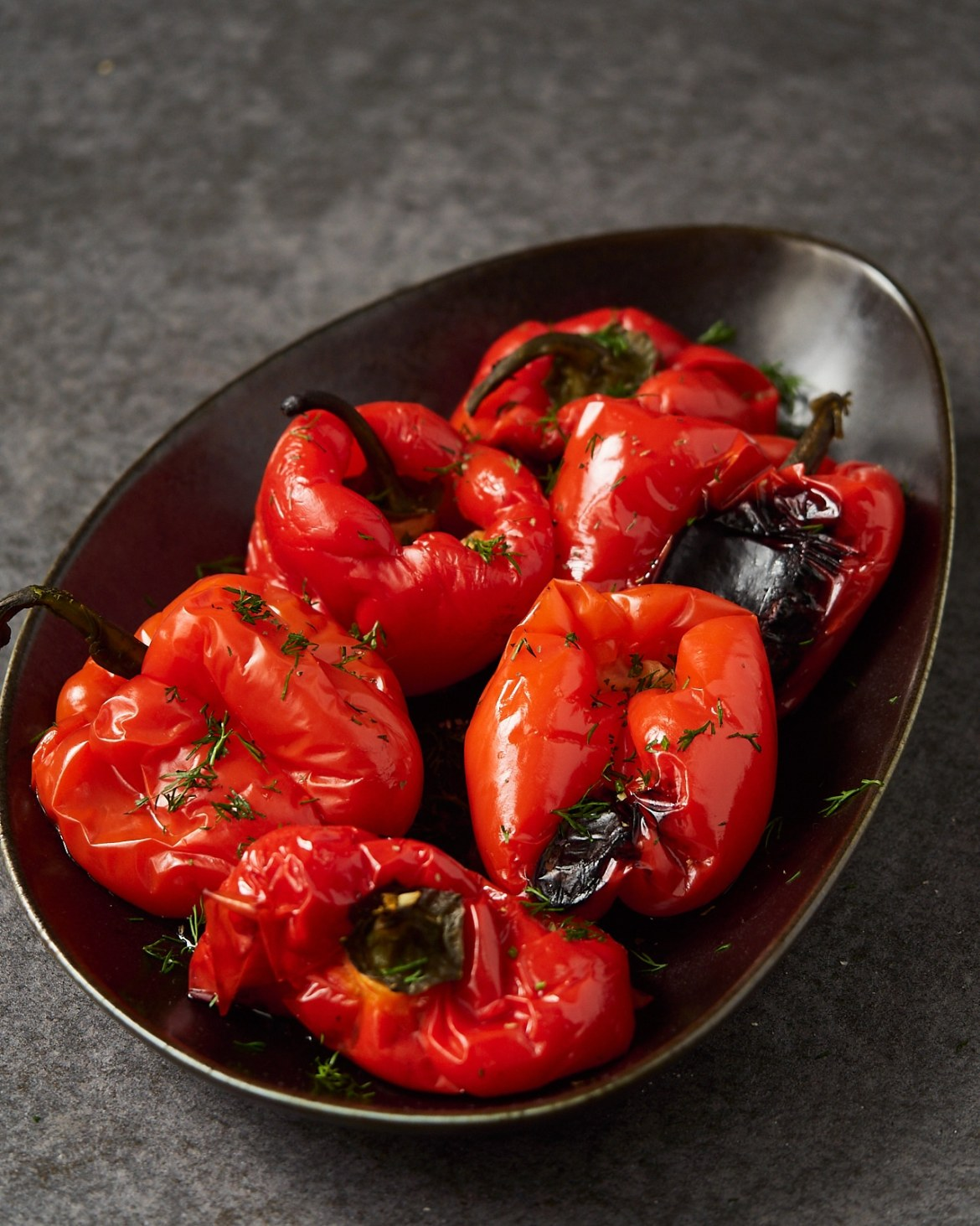 roasted peppers in tomato sauce