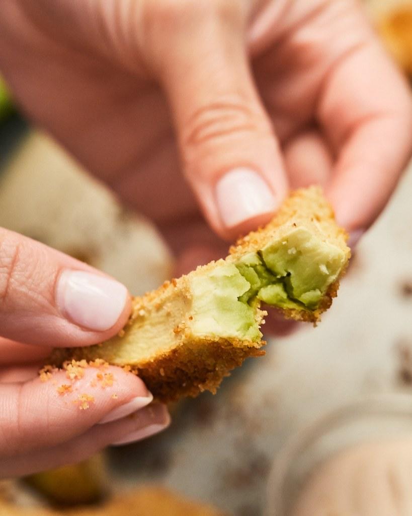 Vegan Crispy Baked Avocado Fries