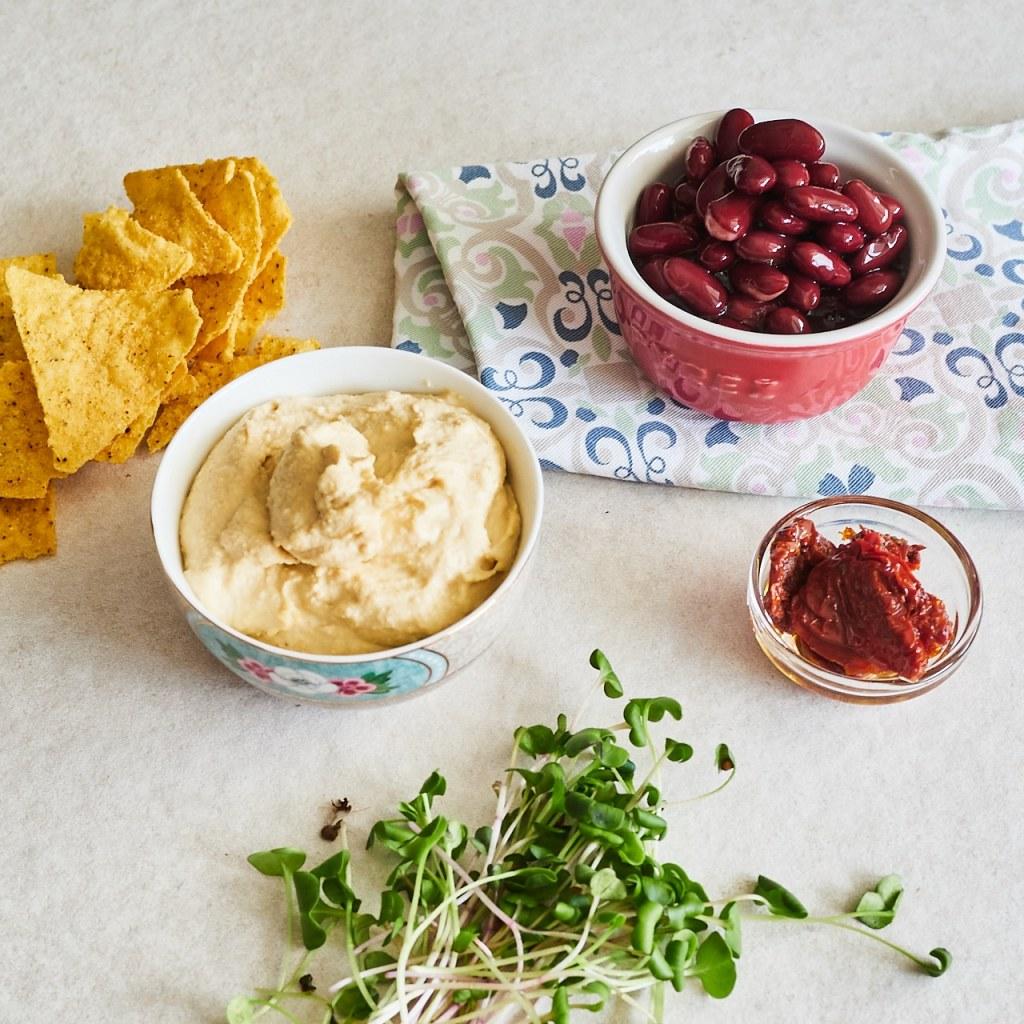 Creamy Black Blean Hummus Ingredients