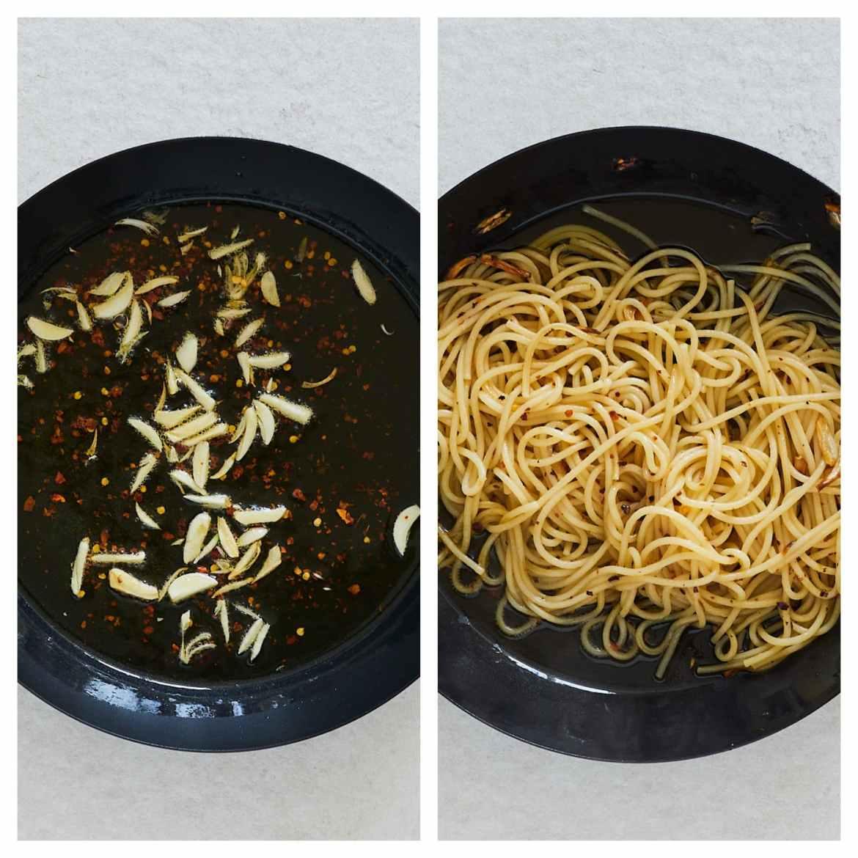 how to cook garlic pasta