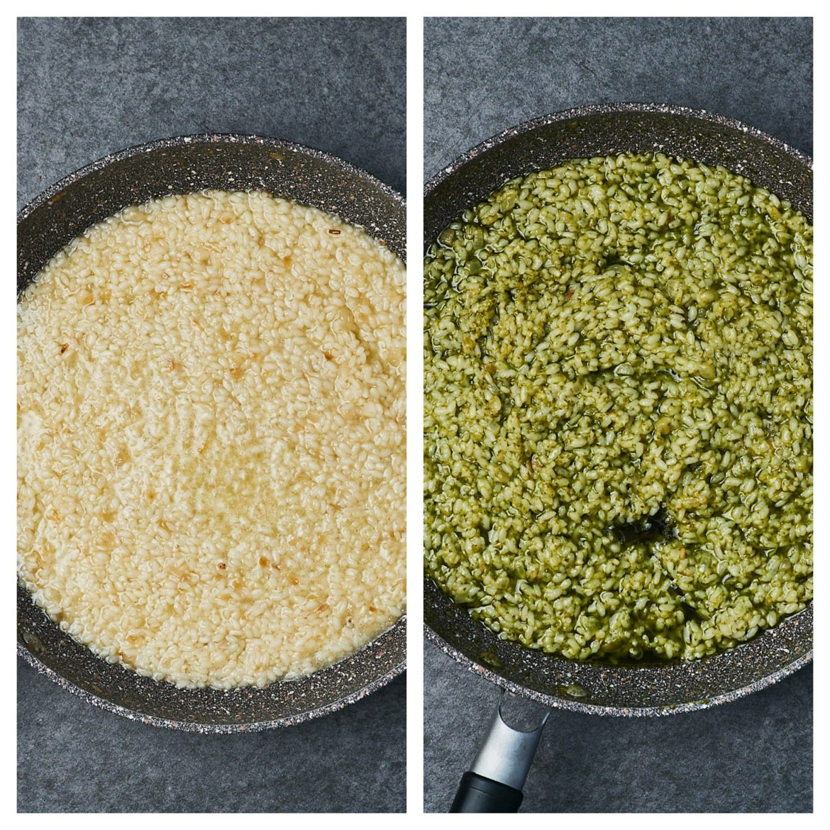 how to cook pesto risotto