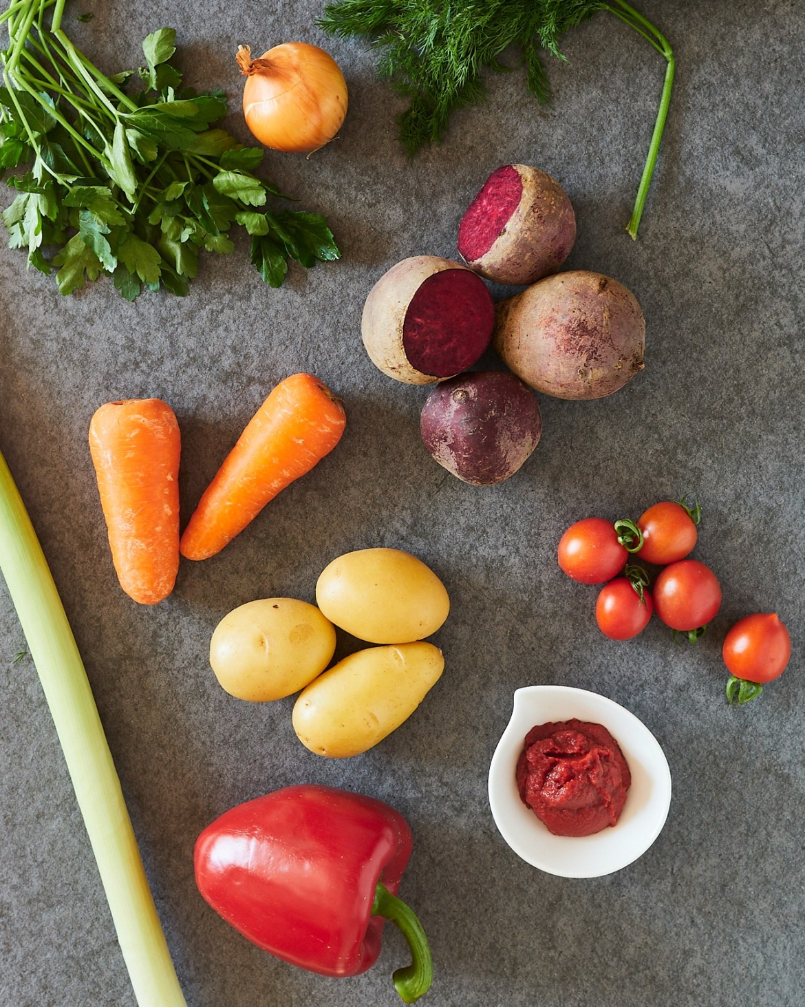 ingredients for beetroot soup
