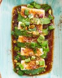 Vegan tofu avocado salad