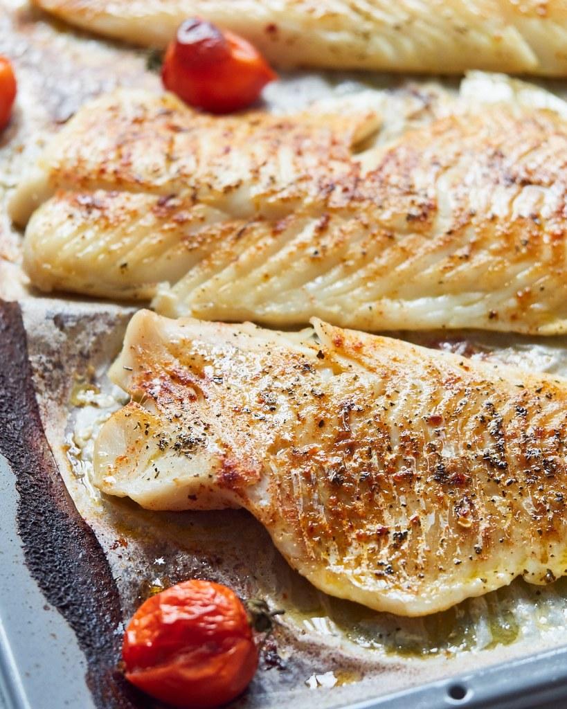 Chimichurri baked fish bowl
