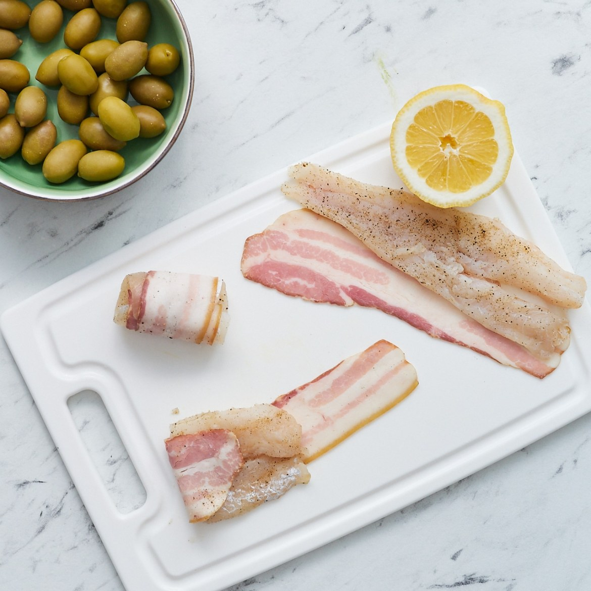 how to make cod and bacon wraps