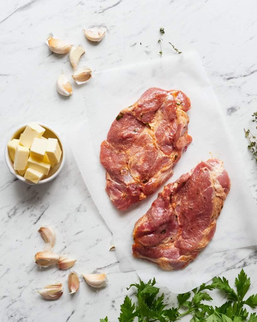 Juicy Steak Bites in Garlic Butter Ingredients