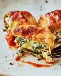 Zucchini Roll-ups With Spinach & Cheese
