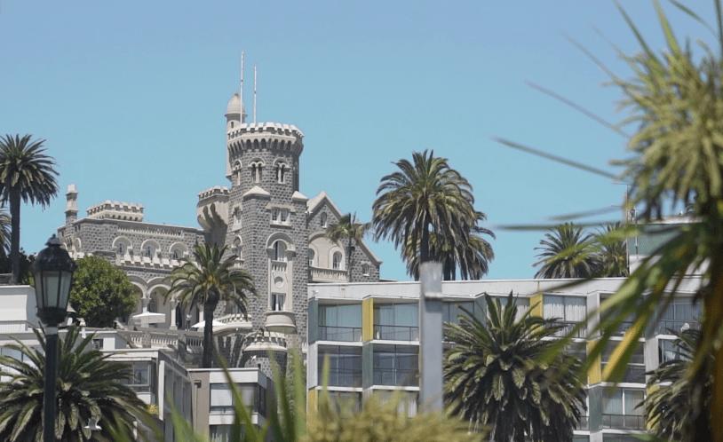 O Castelo de Wulff é uma das atraçoes historicas de Vina del Mar, no litoral do Chile
