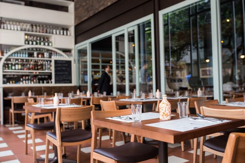 Varanda do Modern Mamma Osteria, restaurante em Sao Paulo