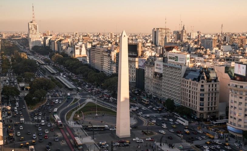 Obelisco, atraçao mais famosa de Buenos Aires, Argentina