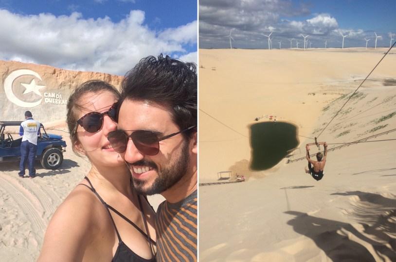 O passeio de buggy faz paradas em pontos estratégicos nas dunas
