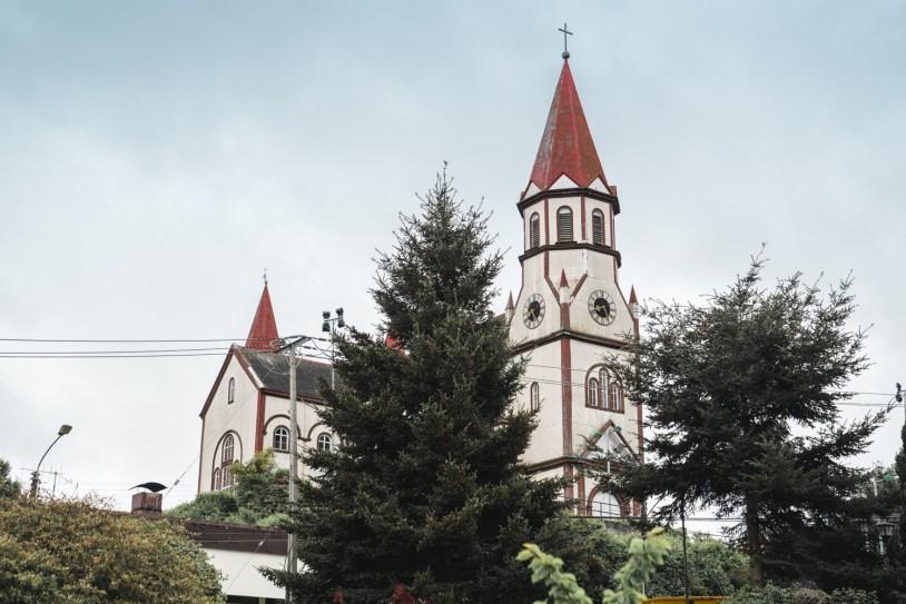 Iglesia del Sagrado Corazon, igreja de arquitetura alemã no centro de Puerto Varas, no Chile