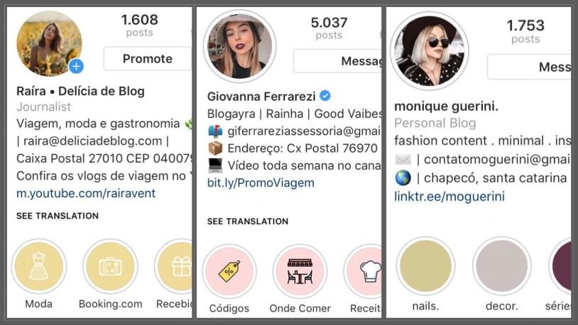 Detalher importantes para manter um perfil bonito no Instagram e chamar atençao de marcas