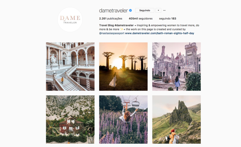Mulheres pra seguir no Instagram: Dame Traveler