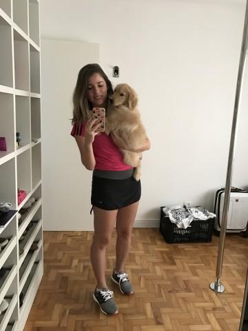 Fitness com cachorro