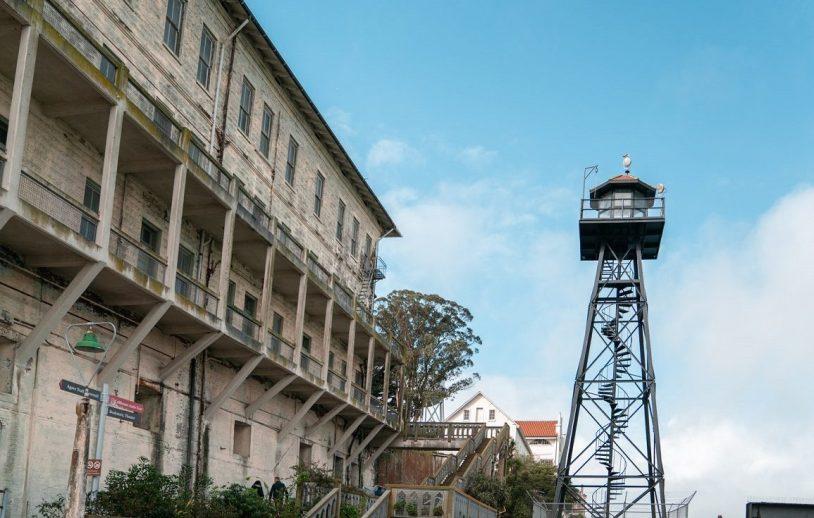 Vista externa da prisão de Alcatraz, em San Francisco