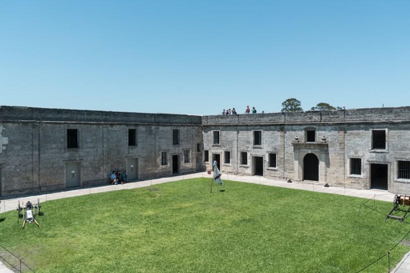 Interior do castelo de san marco em st augustine nos Estados Unidos
