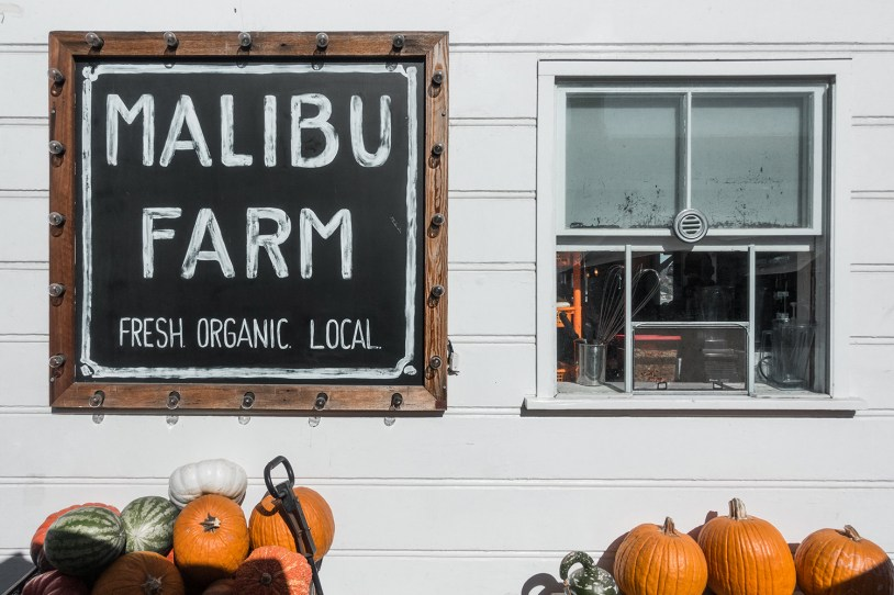 Fachada do Malibu Farm, no píer de Malibu na California