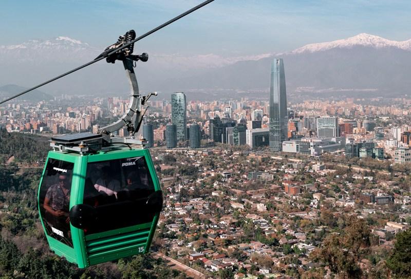 Teleferico do Cerro San Cristobal, em Santiago