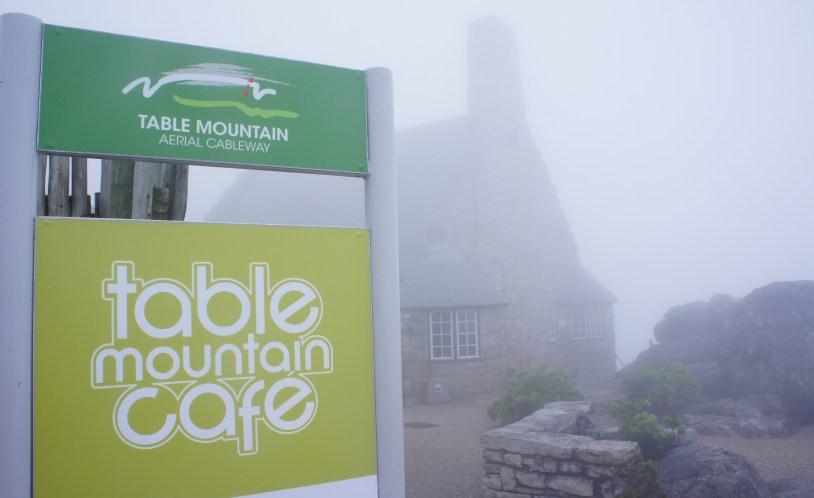 Vista que um turista azarado tem da Table Mountain