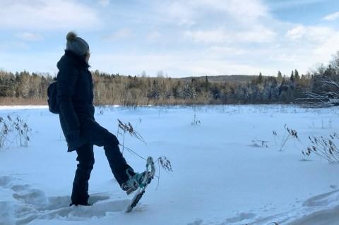 Raquette sur lac Morin Heights Corridor ©delicieusevie