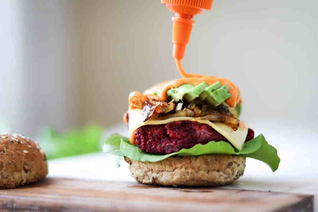 A juicy, smoky and tender beet burger patty that's perfect for quick dinners, packed with protein, while being healthy and delicious too!