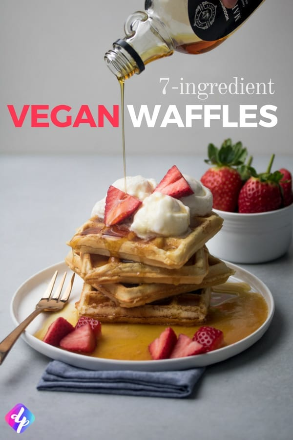 For the perfect breakfast, what better to have than our fluffy vegan waffles? With only 7 ingredients, they're quick and easy to make while also being refined sugar-free!