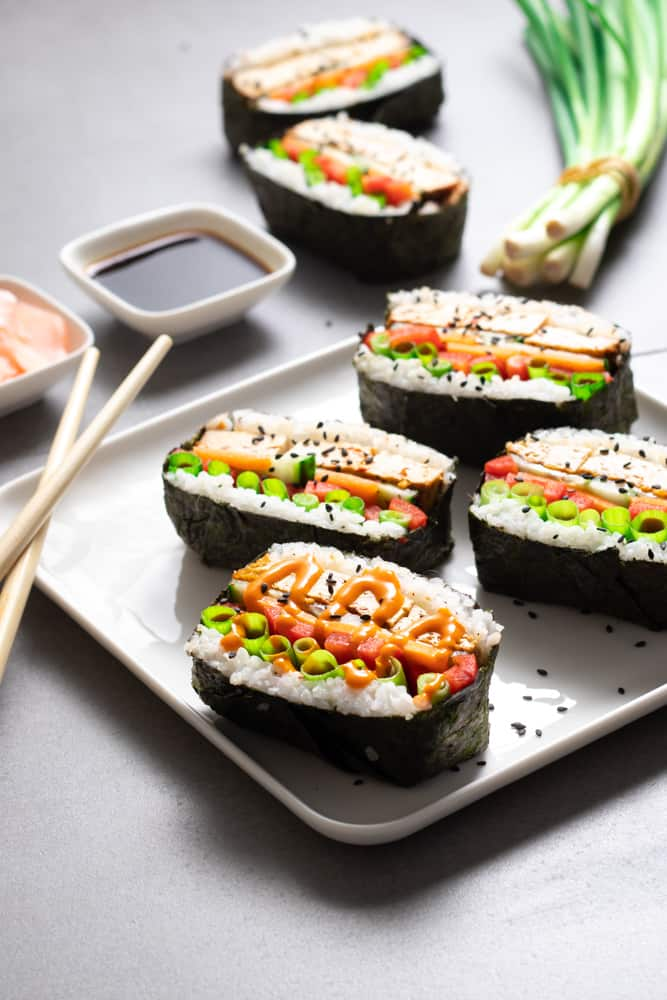 Our vegan sushi sandwiches are a great way to enjoy the taste of sushi while also making it quick and easy to prep your lunch for the days ahead.