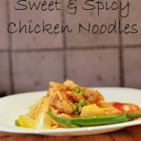 Sweet & Spicy Chicken Noodles