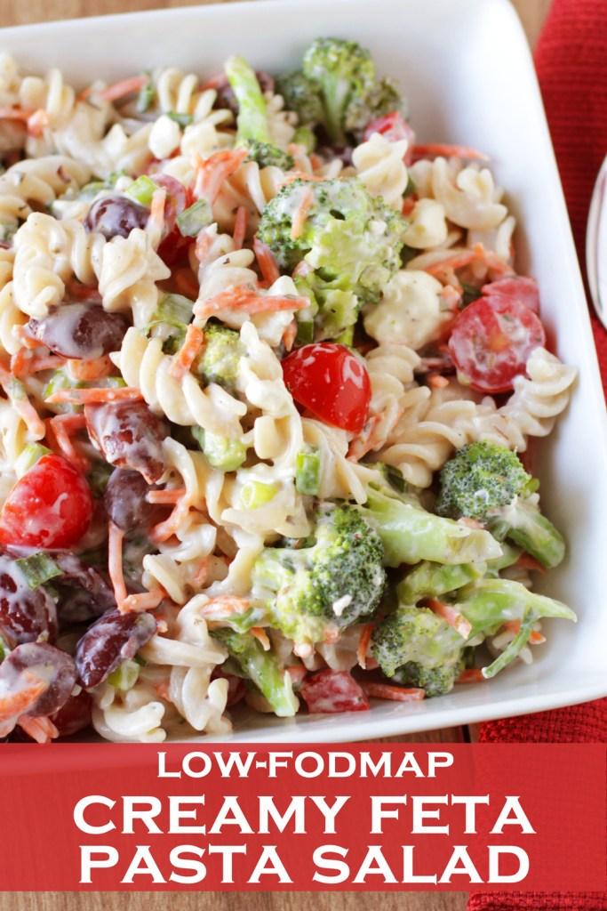 Low Fodmap Creamy Feta Pasta Salad Delicious As It Looks