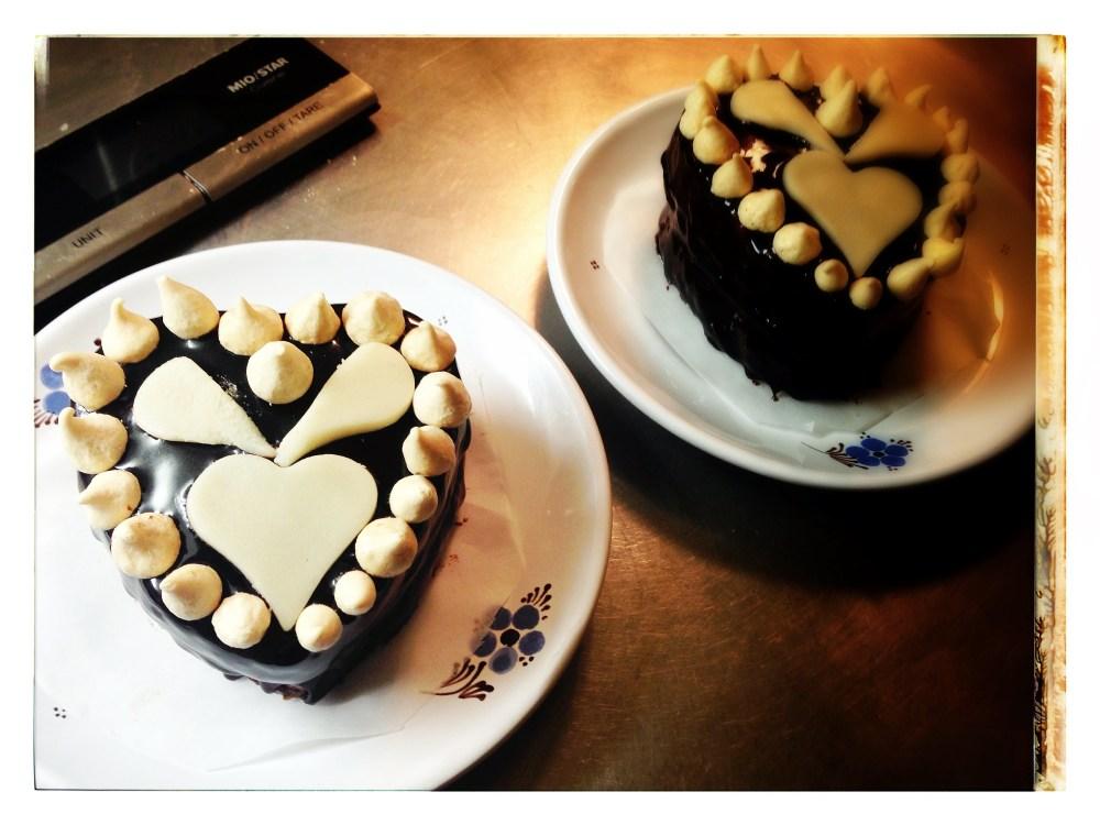 Petit gâteau de St.-Valentin