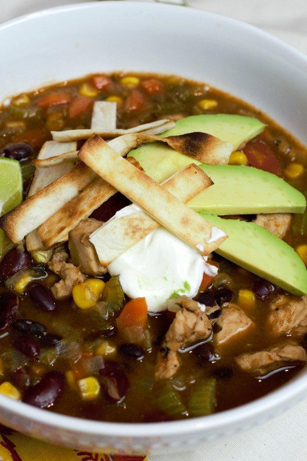 Chicken Tortilla Soup up close