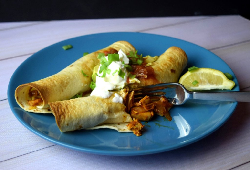 chicken enchilada floutas