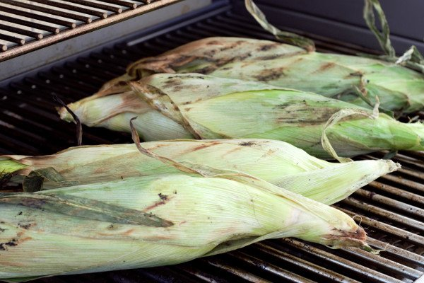 Perfectly Grilled Corn. The husk browns and protects the kernels from losing moisture and shriveling.