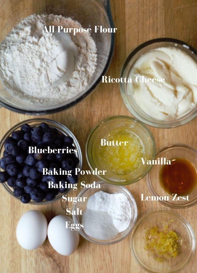 ingredients on wood background