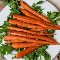 roasted carrots on white plate