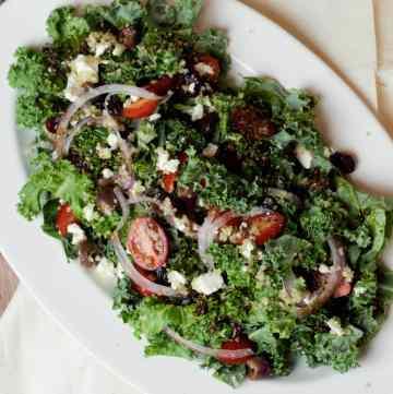 kale and quinoa salad feature