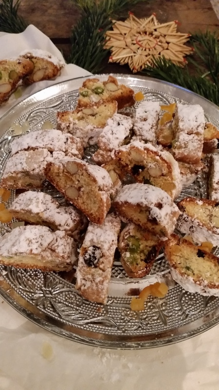 Christstollen- Cantuccini