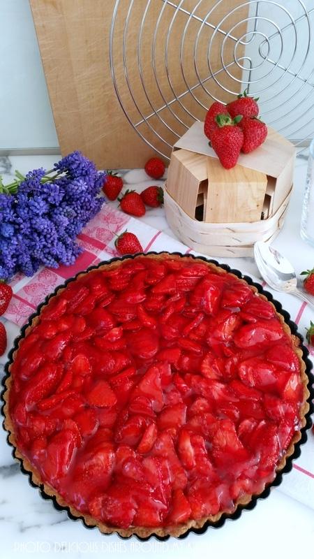 Vorbote zur Erdbeer- Saison…Erdbeer- Tarte mit Mascarpone