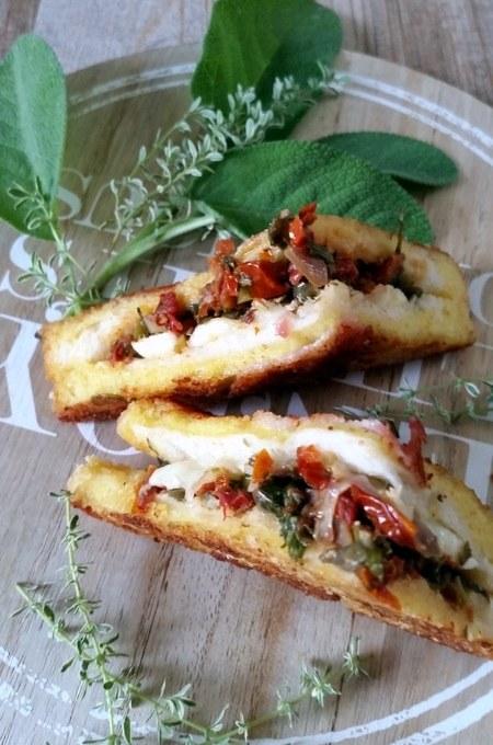 Schnelle Küche…Mozzarella in Carrozza umhüllt mit Pancetta