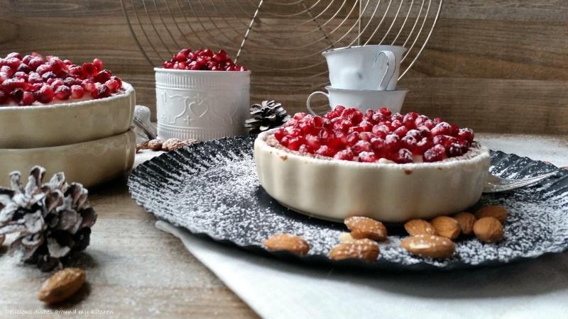 Mandeltarte mit Granatapfel und Amaretto- Mascarpone