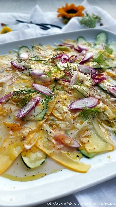 Zur Grillsaison...Zucchini & Fenchel mit Zitrone- Sumach- Marinade