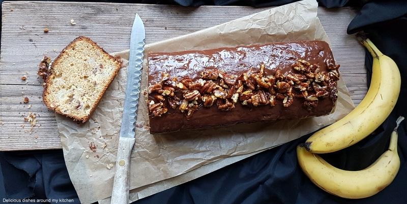 Kastenform- Bananenkuchen mit Pecannüssen