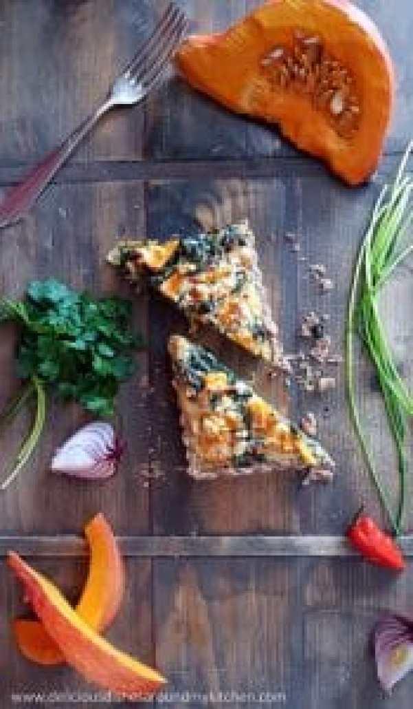 Herbstgenuss- Kürbis- Spinat- Quiche