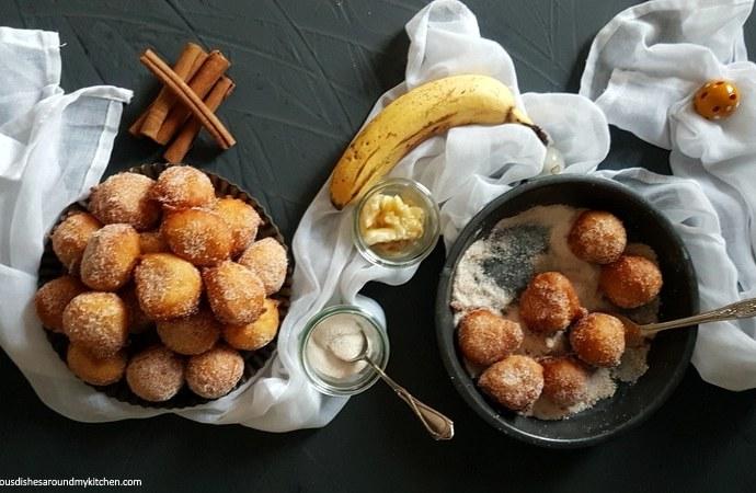 Zu Fasching- leckere, fluffige Quarkbällchen mit Banane
