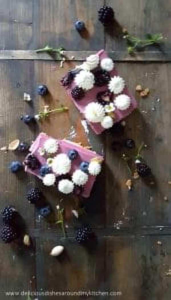 No Bake Blaubeeren- Banane- Joghurt Cake